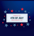 4th of july background with stars vector image vector image
