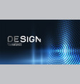abstract dynamic flowing wave for landing page vector image vector image
