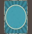 abstract vintage poster vector image vector image