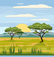 african landscape savannah nature trees vector image vector image