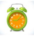 Alarm clock color emblem vector image vector image