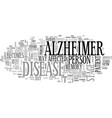 alzheimer research text word cloud concept vector image vector image