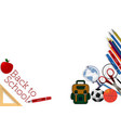back to school banner background vector image vector image