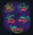 badges set cinco de mayo vector image