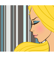 beautiful girl in fashion style vector image vector image