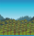 beautiful landscape scenery vector image vector image