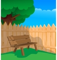 Bench and a fence vector image vector image