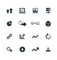 big data database icons set vector image