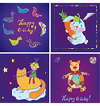 Birthday cards templates design vector image vector image