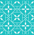 blue arabic ornamental ceramic tile vector image vector image
