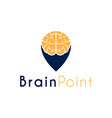 brain point genius smart place logo design vector image