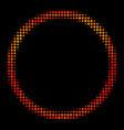 bright dot circle bubble icon vector image vector image