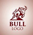 bull logo 3 vector image vector image