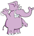 Cartoon Elephant Waving vector image vector image