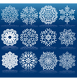 Christmas Design Snowflakes vector image vector image