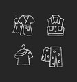 clothes for sleeping chalk white icons set vector image vector image