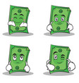 collection set dollar character cartoon style vector image vector image