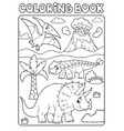coloring book dinosaur subject image 6 vector image vector image