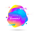 creative design fluid banner vector image