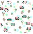 cute bus car vector image vector image
