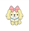 cute feminine dog vector image