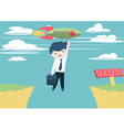 drive your business to success vector image vector image