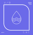 drop line icon with waves graphic elements for vector image