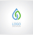 drop water eco logo vector image