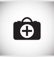first aid kit on whtie background vector image
