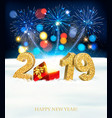 holiday new year background with a firework and vector image vector image