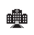 hospital building icon design mediack centre vector image