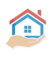House in hand logo or icon vector image