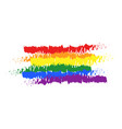 lgbt pride color flag brush rainbow color lgbt vector image vector image