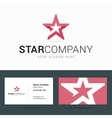 Logo and business card template with star shape vector image