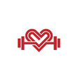 love fit logo vector image vector image