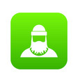 lumberjack icon digital green vector image