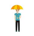 man under umbrella icon vector image