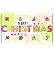merry christmas festive color vector image vector image