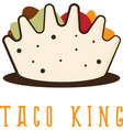 mexican taco in the form of crown vector image