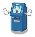 money eye atm toys on cartoon cupboard vector image vector image