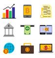 money financial related graphic icon set vector image