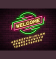 Neon light linear promotion ribbon banner price