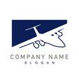 plane logotype vector image vector image