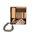 push-button phone with answering machine vector image
