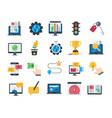seo and web optimization flat icons vector image vector image