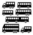 Set bus silhouette on a white background vector image