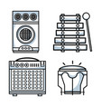 set technology music elements to lay music vector image vector image