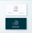 shoe boutique abstract logo and business vector image vector image