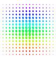 soldier helmet shape halftone spectrum grid vector image vector image
