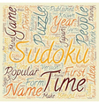 sudoku text background wordcloud concept vector image vector image
